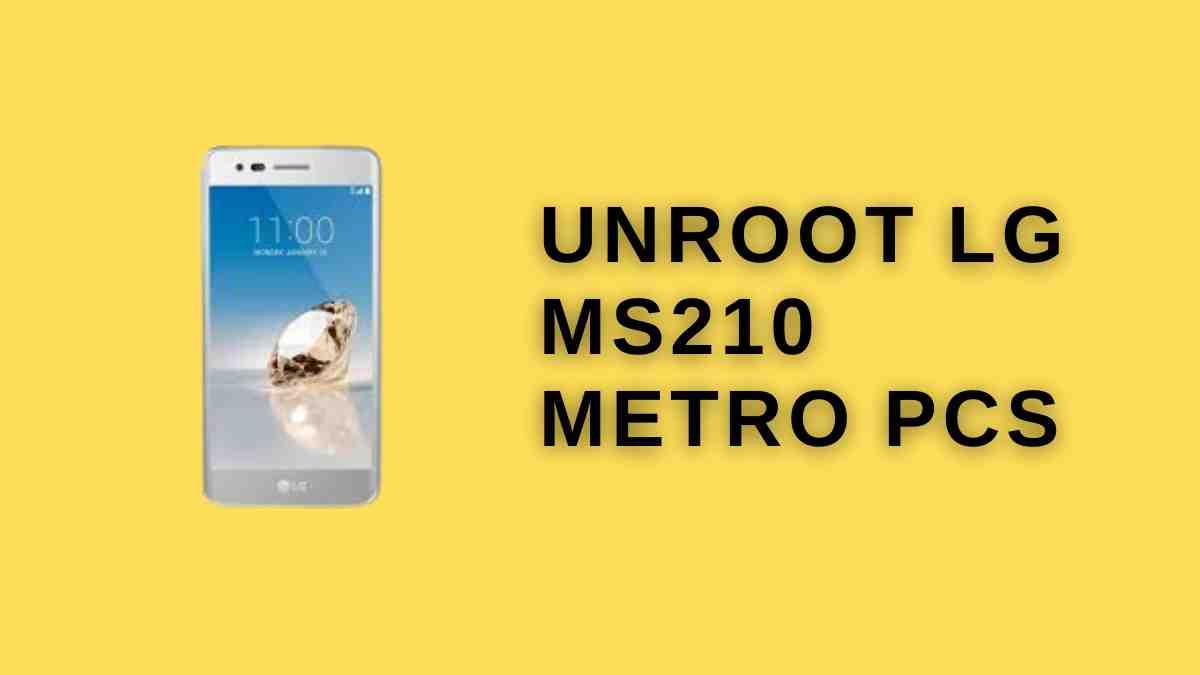Unroot LG MS210 Metro PCS